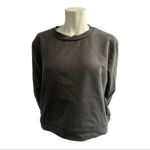 Lululemon Black Cropped Light Sweatshirt Size 12